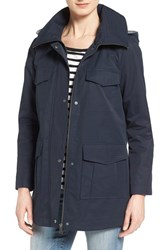 Bernardo Women's Cotton Blend Utility Jacket Navy