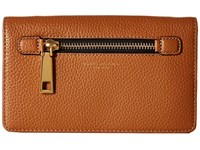 Marc Jacobs Gotham Wallet Leather Strap Maple Tan Wallet Handbags
