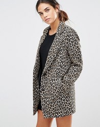 See U Soon Coat In Leopard Print Leopard Multi