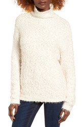 Women's Bp. Fluffy Knit Mock Neck Pullover