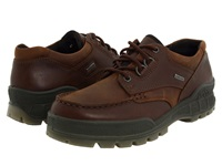 Ecco Track Ii Low Bison Leather Bison Nubuck Men's Lace Up Casual Shoes Brown