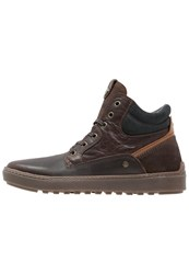 Wrangler Historic Hightop Trainers Dark Brown