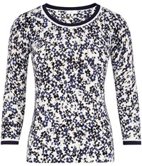 Cc Floral Printed Jumper White