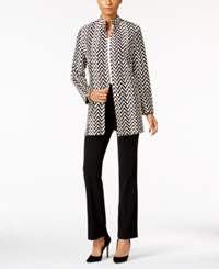 Jm Collection Open Front Chevron Jacket Only At Macy's Chevron Peaks