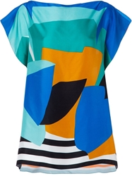 Pierre Louis Mascia Pierre Louis Mascia Printed Oversized Top Multicolour