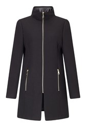 James Lakeland Front Zip Coat Black