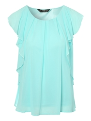 Jane Norman Frill Shoulder Blouse Green