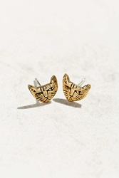 Urban Renewal Datter Industries Tiny Cat Stud Earring Bronze