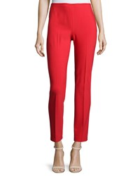 Michael Kors Skinny Side Zip Ankle Pants Scarlet Red