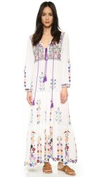 Blue Raffaela Embroidered Dress Natural