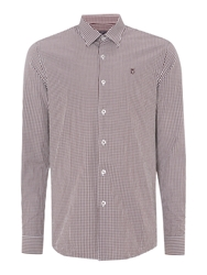 Peter Werth Ellington Cut Gingham Shirt Burgundy