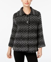 Jm Collection Ombre Textured Cardigan Only At Macy's Black Combo
