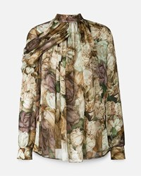 Christopher Kane Rose Wrap Blouse Nude And Neutrals