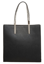 New Look Sleek Tote Bag Black Pattern
