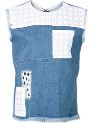 House Of Holland 'Patch Pocket' Top Blue