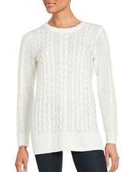 Lord And Taylor Cable Knit Sweater Ivory