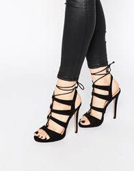 Truffle Collection Rita Ghillie Heeled Sandals Black Mf