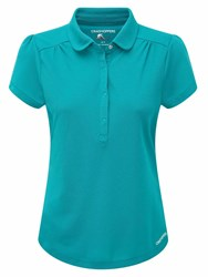 Craghoppers Nosilife Keisha Short Sleeved Polo Turquoise