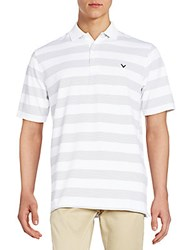 Callaway Rugby Fine Line Polo Shirt Bright White