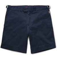 Orlebar Brown Norwich Mid Length Cotton Twill Shorts Midnight Blue