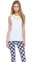 Red Valentino Daisy Embellished Tank Top