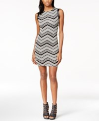 Bar Iii Pleather Trim Chevron Sheath Dress Only At Macy's