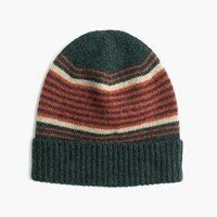 J.Crew Lambswool Beanie In Blanket Stripe