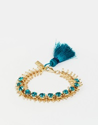 Love Rocks Twist Tassel Bracelet Gold