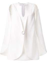 Dion Lee Circle Cape Dress White