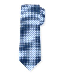 Neiman Marcus Checked Silk Tie Royal