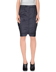 Marithe' F. Girbaud Le Jean De Marithe Francois Girbaud Skirts Knee Length Skirts Women Dark Blue