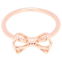 Ted Baker Ginniee Tiny Geometric Bow Ring Rose Gold
