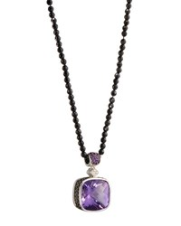 Roberto Coin Colored Dreams Amethyst Diamond And Spinel Pendant Necklace