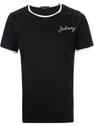 Christian Dada Johnny Embroidery T Shirt Black
