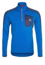 Salomon Trail Runner Warm Long Sleeved Top Union Blue Midnight Blue