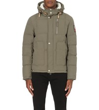 True Religion Woved Down Jacket Mud Green