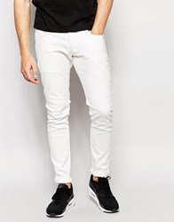 G Star G Star Beraw Exclusive To Asos Jeans 3301 A Super Slim Fit Superstretch White White