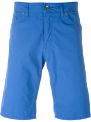 Boss Hugo Boss 'Maine' Contrast Trim Deck Shorts Blue