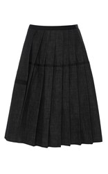 Dice Kayek Pleated A Line Skirt Dark Wash