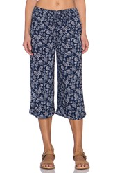 Candc California Printed Culotte Pant Navy