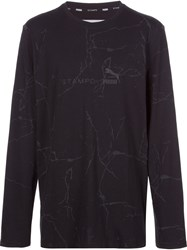 'Puma X Stampd' Cracked Mud Print Sweatshirt Black