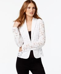 Inc International Concepts Petite Lace Blazer Only At Macy's