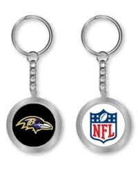Aminco Baltimore Ravens Spinning Keychain Silver Team Color
