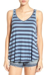Volcom Women's 'Don't Tell' Stripe V Neck Tank Chambary