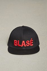 Forever 21 Men Blase Embroidered Cap Black Red
