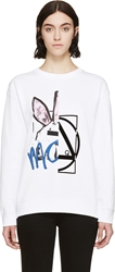 Mcq By Alexander Mcqueen White Angry Bunny Sweatshirt