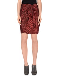 Brian Dales Knee Length Skirts Garnet