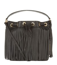 Juicy Couture Topanga Fringe Bucket Bag Female Dark Grey