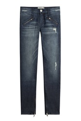 Current Elliott Skinny Jeans With Zippers Blue
