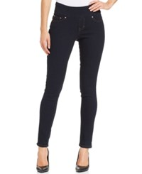 Jag Petite Nora Pull On Skinny Jeans After Midnight Wash